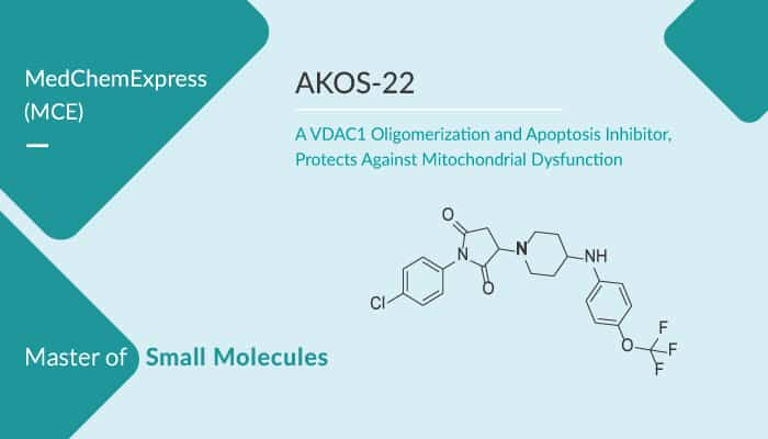 AKOS 22 a VDAC1 Oligomerization and Apoptosis Inhibitor Protects Against Mitochondrial Dysfunction 2020 02 15 - AKOS-22, a VDAC1 Oligomerization and Apoptosis Inhibitor, Protects Against Mitochondrial Dysfunction