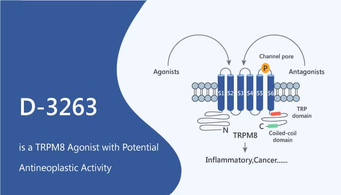 D 3263 is a TRPM8 Agonist with Potential Antineoplastic Activity 2020 10 13 - D-3263 is a TRPM8 Agonist with Potential Antineoplastic Activity