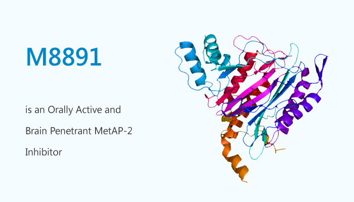 M8891 is an Orally Active and Brain Penetrant MetAP 2 Inhibitor - M8891 is an Orally Active and Brain Penetrant MetAP-2 Inhibitor