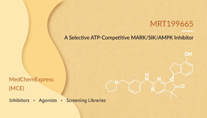 MRT199665 is a ATP Competitive MARK SIK AMPK Inhibitor 2020 02 13 - MRT199665 is a ATP-Competitive MARK/SIK/AMPK Inhibitor