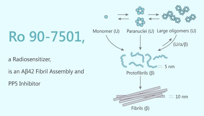 Ro 90 7501 a Radiosensitizer is an Aβ42 Fibril Assembly and PP5 Inhibitor 2020 03 19 - Ro 90-7501, a Radiosensitizer, is an Aβ42 Fibril Assembly and PP5 Inhibitor