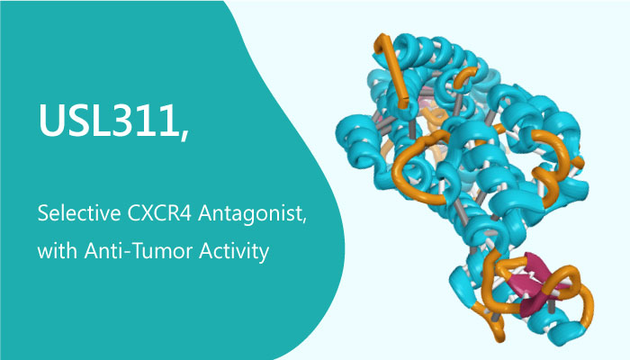 USL311 Selective CXCR4 Antagonist with Anti Tumor Activity 2019 05 21 - USL311 is a Selective CXCR4 Antagonist, with Anti-Tumor Activity