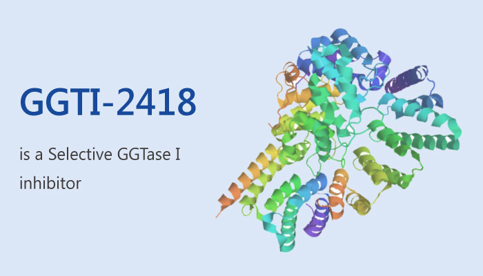 GGTI 2418 is a Highly Potent Competitive and Selective GGTaseI inhibitor 2019 05 31 - GGTI-2418 is a Highly Potent, Competitive, and Selective GGTase I inhibitor